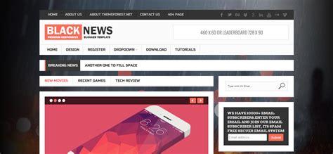 themes blogger black blog yang sangat insviratif dengan desain yang elegan