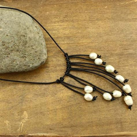 Zigzag Choker Necklace Friend Bronze Coin Kalung Handmade pearl necklace freshwater rice handmade leather pendant genuine white pearls 20
