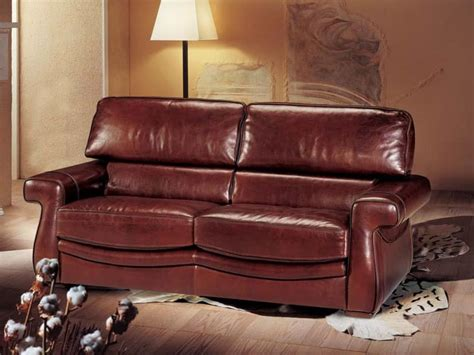 morgan sofa bed sofa bed covered in leather classic style idfdesign