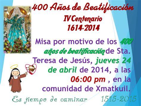 Calendario Xmatkuil 2014 Santa Teresa De Jesus Abril 2014