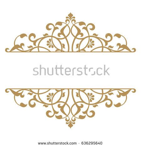 vintage gold frame on white background stock vector