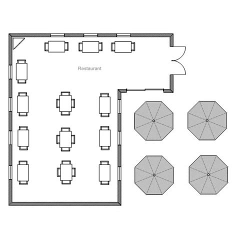 Easy To Use Floor Plan Drawing Software Restaurant Floor Plan Template Free