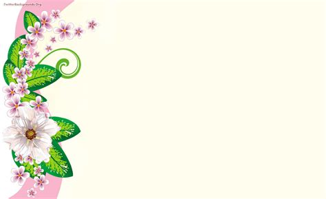 pink and green floral backgrounds presnetation ppt