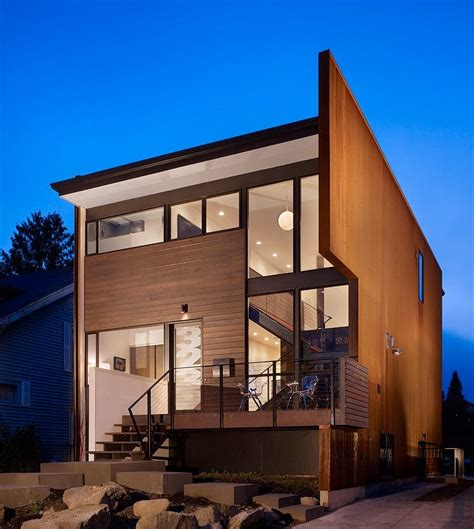 beet residence modern home design in seattle usa