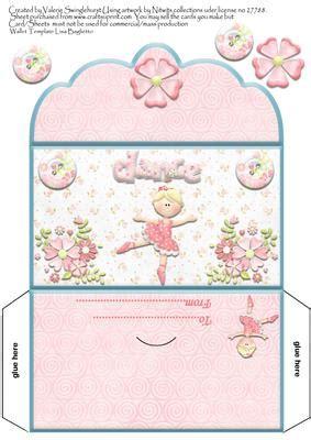 printable birthday cards money sweet ballerina girls money wallet cup179158 880