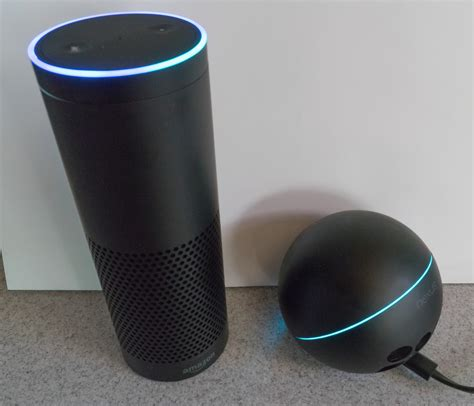 how does echo dot lights living with amazon s echo a cylinder of and