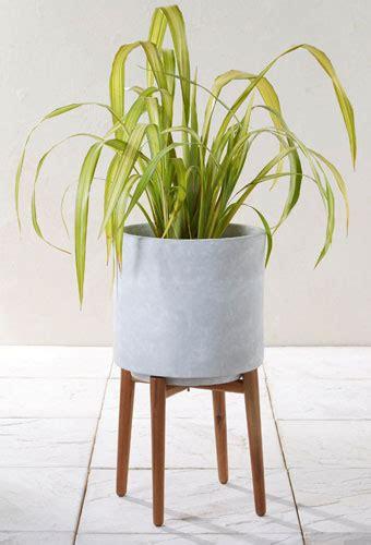 midcentury style concrete planters   retro