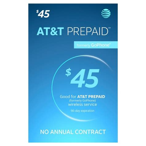 Att Gift Cards - at t 45 prepaid phone card email delivery target