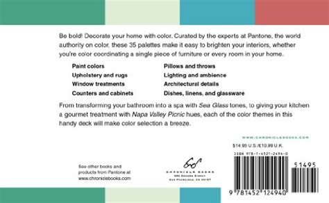 pantone 35 inspirational color palettes for the home pantone deck buy in uae