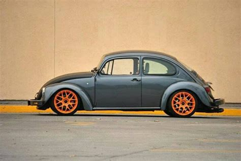 german volkswagen beetle vw grey beetle orange rims das vintage vw beetle s