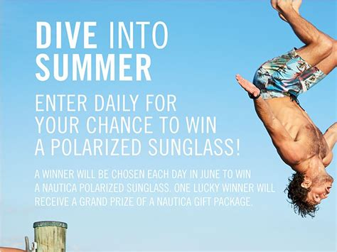 Dive Into Summer Sweepstakes - nautica dive into summer sweepstakes