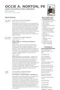 Structural Engineer Resume by Structural Engineer Resume Sles Visualcv Resume Sles Database