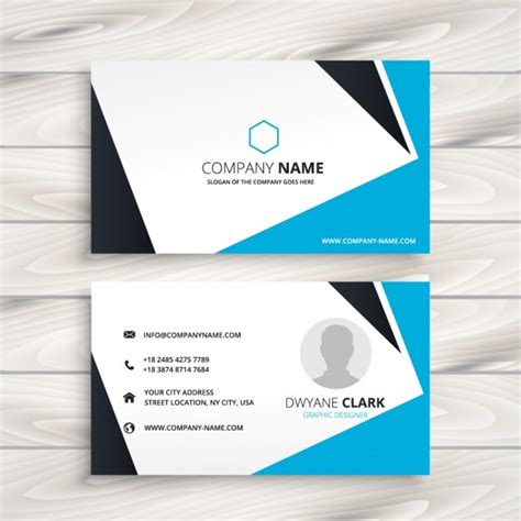 free id card template vector abstract modern business card vector free