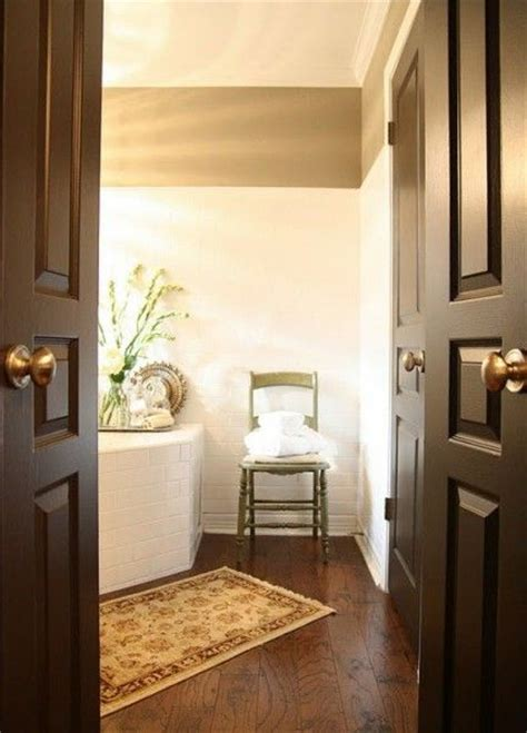 Interior Door Paint Finish Brown Painted Interior Doors Benjamin Horizon Satin Finish Enamel Remodeling The