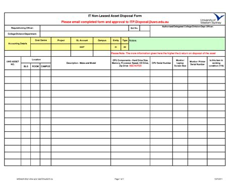 asset template 10 best images of asset disposal form template fixed