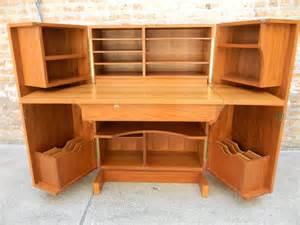 Danish Teak Cabinet Danish Teak Fold Out Desk Gatyo Retro
