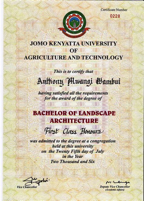 study certificates antony mwangi wambui