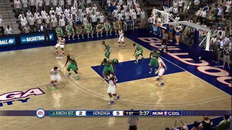 ncaa basketball 10 ps3 roster ncaa basketball 10 ps3 gonzaga vs michigan state cbs