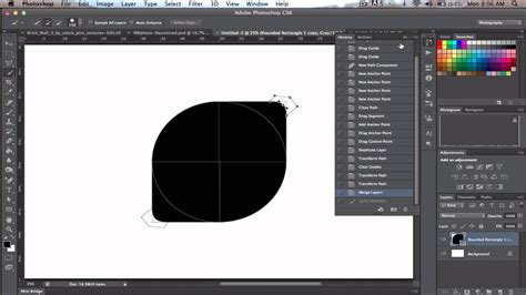 tutorial photoshop cs6 vector create logo using vector shapes in cs6 youtube