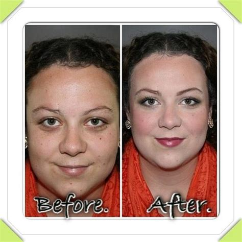 before and after arbonne makeup with exclusive optilight