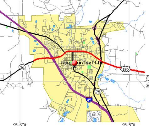 map of huntsville texas 77341 zip code huntsville texas profile homes apartments schools population income
