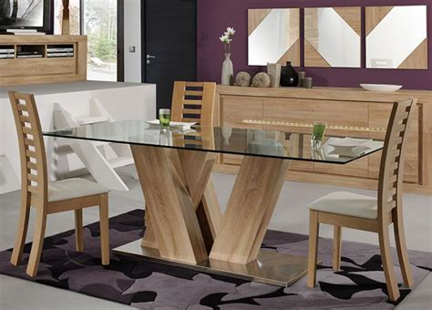 Glass And Wood Dining Room Table Wood And Glass Dining Table And Chairs Modern Wood And