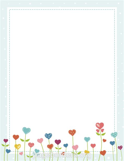 printable paper with flower border printable heart flower border use the border in microsoft