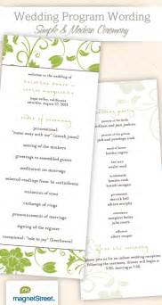 wedding ceremony program wording sles wedding program wording templatestruly engaging wedding