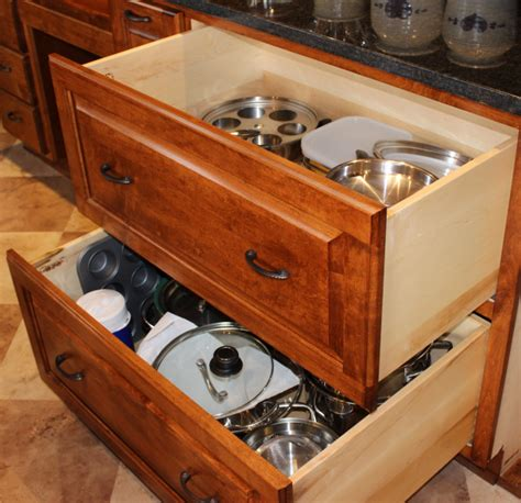 Kitchen Pot Drawers by Large Pots Pan Drawers Healthycabinetmakers