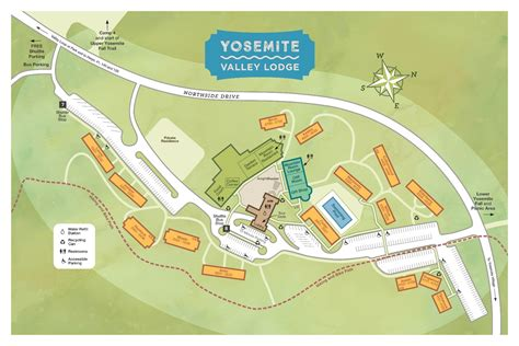 layout yosemite yosemite valley lodge in yosemite national park ca