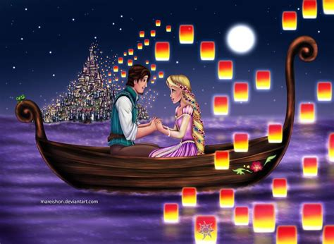 boat song from tangled rapunzel and flynn in boat www pixshark images
