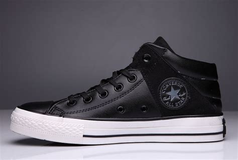 Converse Ct All Leather Low Top Black High Tops Converse Leather Padded Collar Terminator