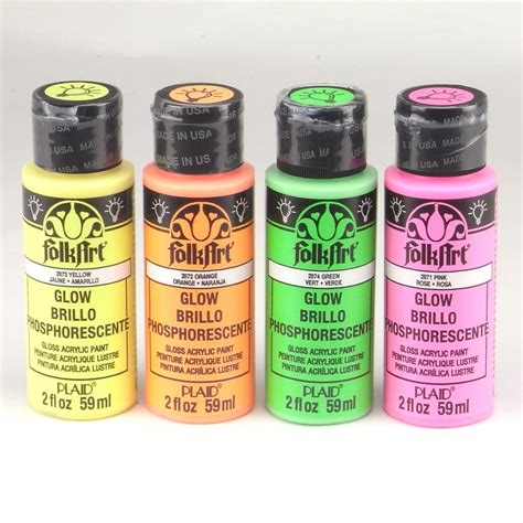 folk acrylic paint india folkart acrylic paint glow in the set plaid from