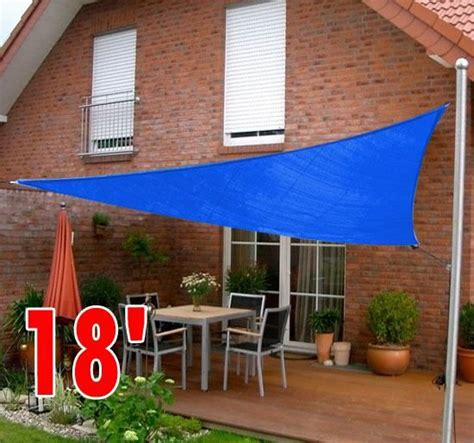 gym equipment 18 triangle outdoor patio sun shade sail