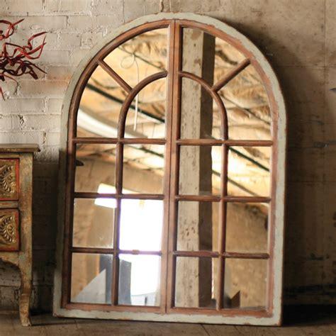 mirror window wall decor kalalou arched window mirror cmx1065