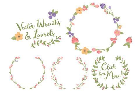 Border Wedding Amanda by Wildflowers Floral Wreath Vector Set By Amanda Ilkov