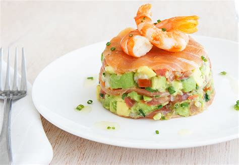 Summer Starters by Smoked Salmon With Avocado Salsa And Prawns Recipe Best