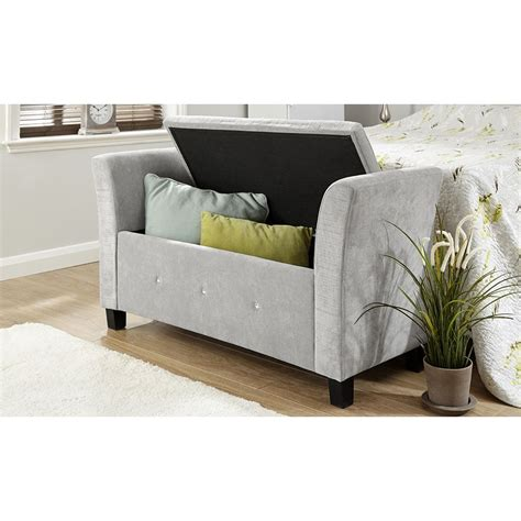 blanket bench verona chenille diamante window seat ottoman storage box