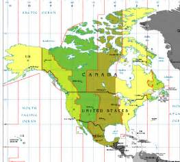 Canada Time Zone Map by Canadian Time Zones