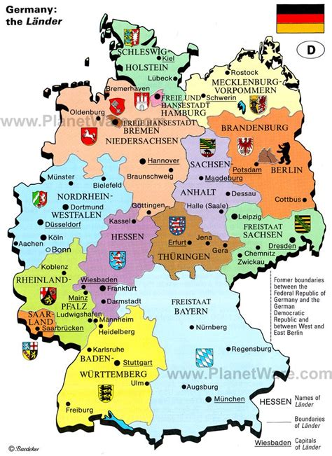 cities in germany map of germany the lander planetware