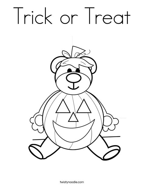 halloween coloring pages trick or treat trick or treat coloring page twisty noodle