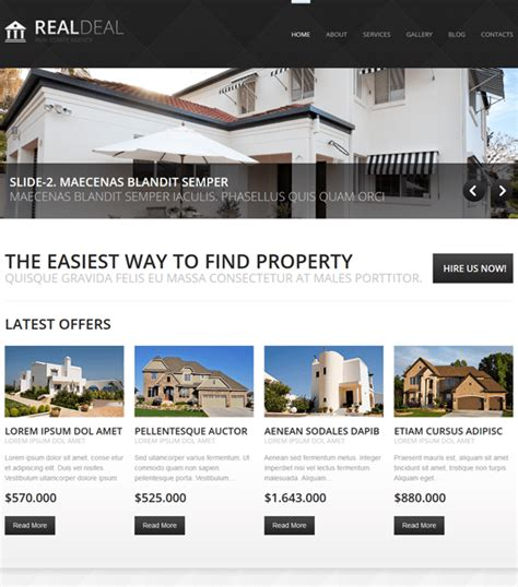 15 of the best real estate joomla templates down