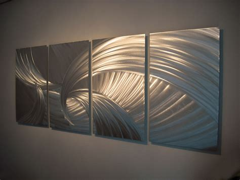 creative silver curved metal arts contemporary wall