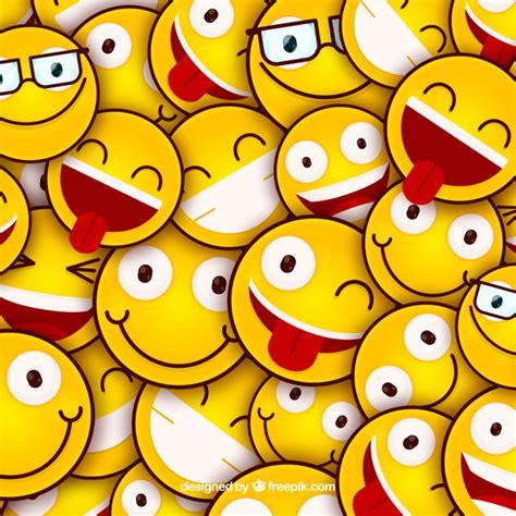 imagenes de smile love fundo colorido com emoticons em design plano baixar