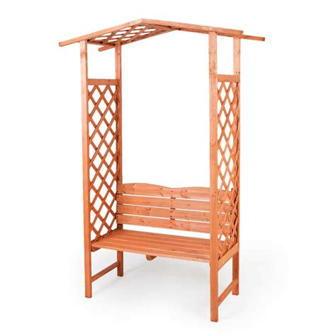 lattice bench greenfingers lattice arbour with bench on sale fast