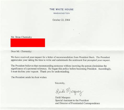 Reference Letter Joke joke letter to president george w bush