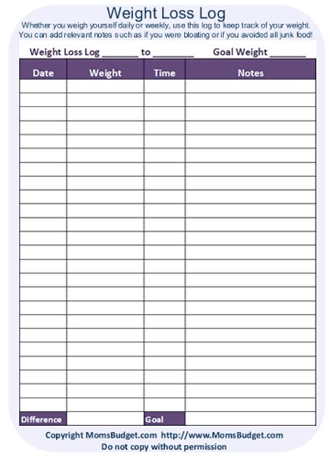 weight loss tracker template weight loss tracking sheet authorization letter pdf