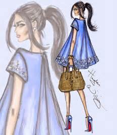 Hayden williams fashion illustrations blue pearl by hayden williams