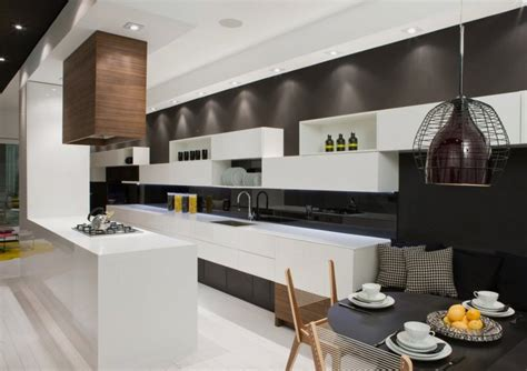 modern kitchen interior modern house interior in white and black theme