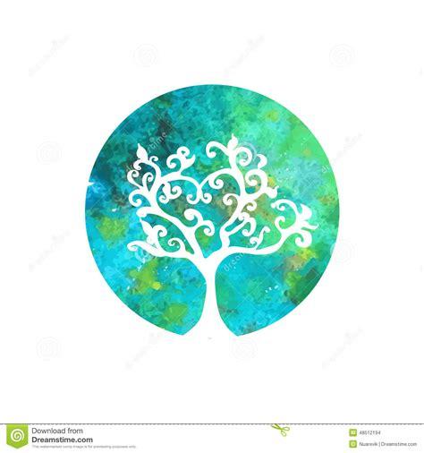 watercolor logo tutorial illustrator watercolor tree logo stock illustration image of logo
